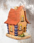 incense, burner, smoker, house, gift, handmade, handiwork, suvena, handicraft, artwork, ceramic.